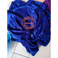 Bahan kain abutay/kain dekor/filamin/backdrop kiloan - Biru