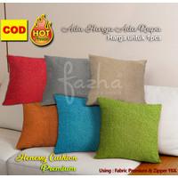 Sarung Bantal Sofa Kursi Tamu Motif Polos Merah hijau orange Tosca
