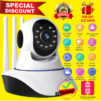 IP Camera 1080P V380 Pro Cam CCTV Wifi 3 Antena Wireless Kamera Yoosee