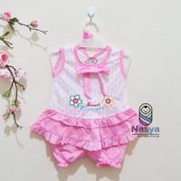 0117- Bunga,Setelan murah baju sehari-hari bayi perempuan 3-6 bulan