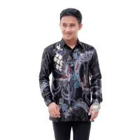 Baju Batik Pria Semi Sutra Lengan Panjang / Batik Kantoran Terlaris