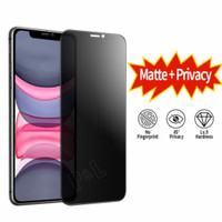 Tempered Glass Anti Spy Matte Iphone X XR XS Max Screen Guard