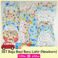 Paket set baju baby bayi laki laki baru lahir newborn 0 3 4 bulan sni