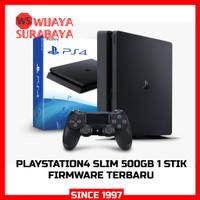 PS4 Slim Mesin Aja-2000gb 2 Stik Getar+1 Game Random - MESIN AJA
