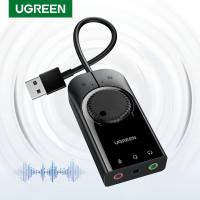 Ugreen External Soundcard USB To Jack Audio 3.5mm