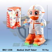 robot robotan dance joget covid corona tenaga medis Mainan Anak BR1238 - Orange