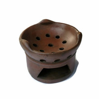 Anglo arang / tungku tanah liat halus tebal / kompor arang tradisional
