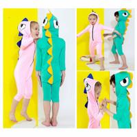 Baju Renang Cute Dino Hoodie Anak Import