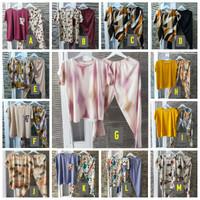 Setelan Baju Tidur Piyama Wanita Lengan Pendek Rayon Premium