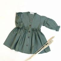 SETELAN HAVANA DRESS 1-6 TAHUN - Army, S