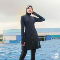 Baju Renang Wanita Muslimah Edora Handsock Myra - Hitam, M