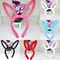 Bando Rambut Motif Telinga Kelinci Bando Bunny Bulu Halus