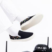 CRSL X GOZEAL Black Slip On - 38
