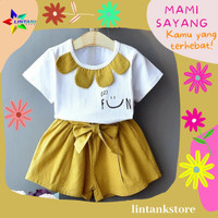 Baju Setelan Anak Perempuan 2 3 4 Tahun Pakaian Balita Bayi Cewek Cewe