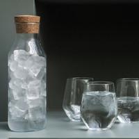 botol kaca besar 1 liter dengan penutup gabus jumbo murah tempat air