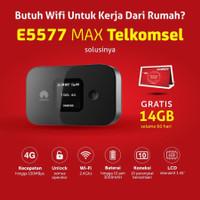 MIFI MODEM WIFI HUAWEI E5577 MAX 4G LTE UNLOCK FREE TELKOMSEL 14GB