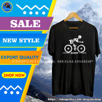 Baju Kaos Oblong Pria Distro Cowok Keren Bike Addict Indonesia Terbaru - Hitam, XL