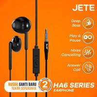 Jete Headset HA6 - Handsfree with Audio Power Bass - Garansi 2 Tahun