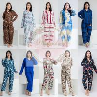 Setelan Piyama Baju Tidur Tangan Panjang Rayon Motif(PP RAYON PART 1)