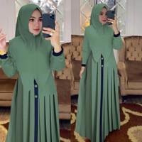 baju gamis wanita terbaru murah syari set hijab muslim kekinian elisa