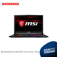 MSI Notebook GE75 8RF Intel Core i7 16GB/1TB Wins 10 Home ORI - Black