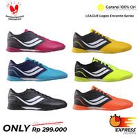 Sepatu Futsal League Legas Encanto LA BLack White - Hitam, 39