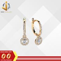 Anting berlian eropa emas asli 18k D035