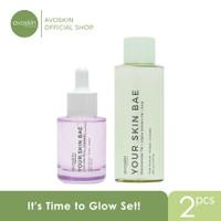 Avoskin It's Time to Glow Set Package (YSB AA Serum+Niacinamide Toner)