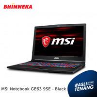 MSI Notebook GE63 9SE Intel Core i7 16GB/1TB Wins10 Home ORI - Black