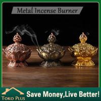 Tempat Bakar Dupa Bunga Lotus Mabkhara / Bakhoor / Bakhur / Kemenyan