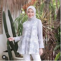 blouse batik kombinasi atasan modern busui bahan katun blouse tunik