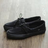 Sepatu Vans Zapato Flanel All Black Slip On Unisex Import