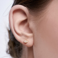 Leona - Anting Studs Perak 925 Silver 18k Gold Plated Earring