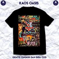 Kaos Band Rock Oasis Original. Kaos Musik Baju Band Oasis Berkualitas.