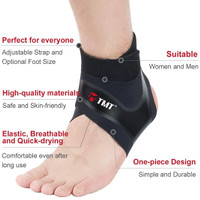 1 Pcs Ankle Compression FOOT Sleeve Arch Heel Pain Relief Support kaki