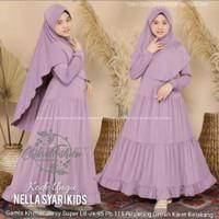 Baju gamis anak perempuan Busana muslim anak syari setelan
