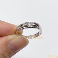 Cincin emas putih 375 WEDDING COUPLE Ring berat 2 - 3 gram an