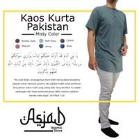 Kaos Polos / Baju Muslim Kurta Pakistan Misty Hijau
