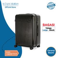 Bundling Bagasi Talaga Koper Hardcase Large / 29 Inch - Black + Cover