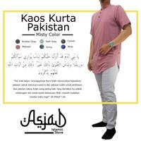 Kaos Polos / Baju Muslim Kurta Pakistan Misty Merah Maroon