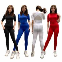 setelan olahraga wanita baju senam tile gym fitnes yoga 753