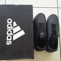 Sepatu Sekolah Kets Adidas Original Hitam Polos