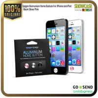 Spigen Home Button Aluminum Casing iPad Casing iPhone 4 5 6 5s SE - BlkSlvPnk