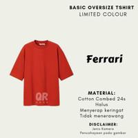 QRproject.id - Kaos polos oversize/ Oversized Tshirt Ferrari - M