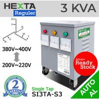 Trafo Listrik Step up Down Hexta 3 KVA - AL - REGULER