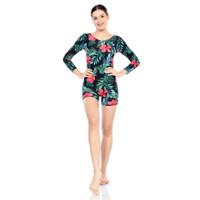 baju renang wanita diving dewasa corak lengan panjang