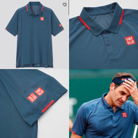 Uniqlo Roger Federer 2021 Paris Tenis Tennis MEN DRY-EX POLO SHIRT