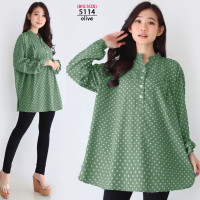 XXXL Baju Blouse Wanita Jumbo Atasan Big Size Oversize LD130 Polkadot
