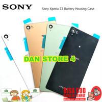 COD Backdoor Tutup Baterai Sony Experia Z3 Tutup Casing Belakang Sony - Hitam