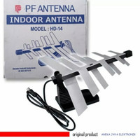 ANTENA HD 14 PF MODEL PESAWAT INDOOR UNTUK TV LED DAN TABUNG